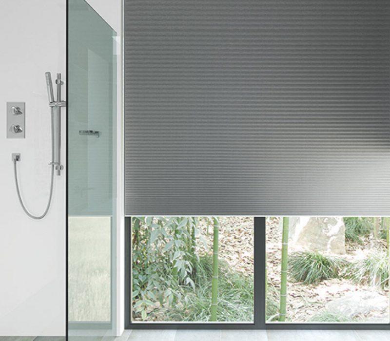 Pleated -Blind bathroom