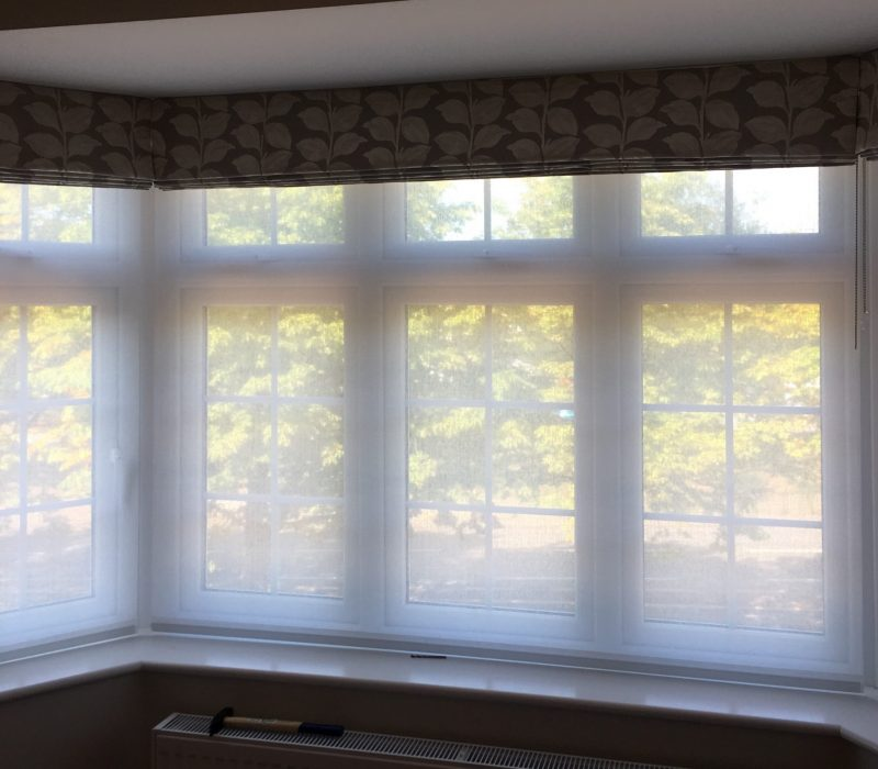 Roman blind and Sheer roller